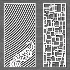 Screen Ripples And Connected Squares For Laser Cut Cnc Free DXF File