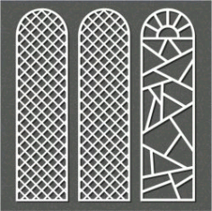 Small Dome Shaped Partition For Laser Cut Cnc Free DXF File