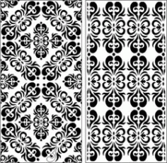 Symmetrical Pattern Panel Screen For Laser Cut Cnc Free DXF File