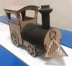 Train Assembly Model For Laser Cut Cnc Free DXF File