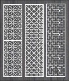 Vertical Column Pattern For Money For Laser Cut Cnc Free DXF File