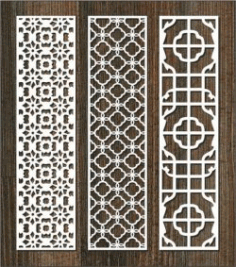 Vertical Column Pattern Partition For Laser Cut Cnc Free DXF File