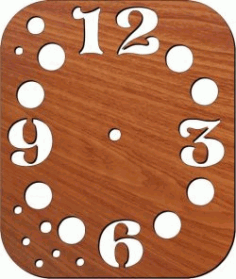 Wall Clock With Numbers For Laser Cut Plasma Free DXF File