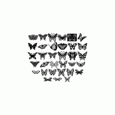 Butterfly Ornament Decor Free DXF File