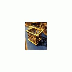 Snowflake Votive Holder Free DXF File