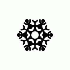 Snowflake Design Art Free DXF File