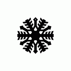 Snowflake Circle Free DXF File