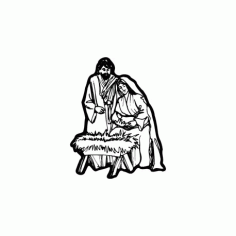 Nativity Scene Free DXF File