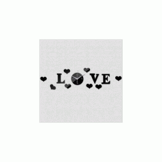 Love Clock Free DXF File