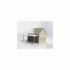 Little Western House In Wood Free DXF File
