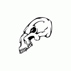 Horror Skull Animal Head 017 Free DXF File