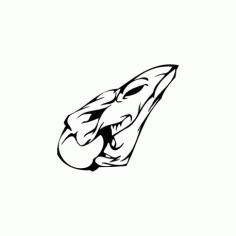 Horror Skull Bird Head 014 Free DXF File