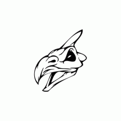 Horror Skull Bird Head 012 Free DXF File