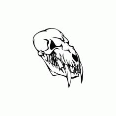 Horror Skull Bird Head 007 Free DXF File