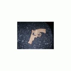 Bulldog Revolver Model Flat Free DXF File