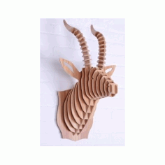 Gazelle Head Puzzle Free DXF File