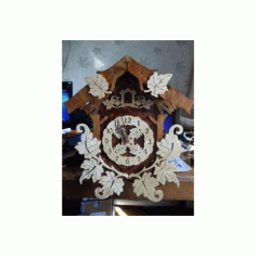 Laser Cut Pattern Cuckoo Clock Free DXF File