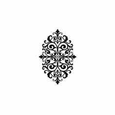 Medallion Stencil Design Free DXF File