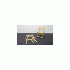 Snapset Chair Wooden Laser Cut Free DXF File