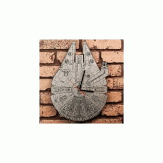 Star Wars Millennium Falcon Clock Free DXF File