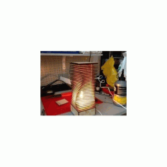 Wooden Nightligh Table Lamp Laser Cut Free DXF File