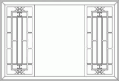 Back Door Frame Partition Garden For Laser Cut Cnc Free CDR Vectors Art