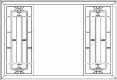 Back Door Frame Partition Garden For Laser Cut Cnc Free CDR Vectors Art