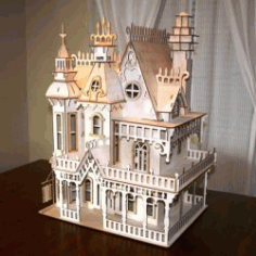 Castle Assembly Model For Laser Cut Cnc Free CDR Vectors Art