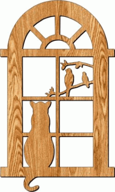 Cat Door Frame Partition For Laser Cut Plasma Free CDR Vectors Art
