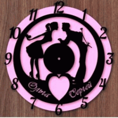 Chasy Para Clock For Laser Cut Cnc Free CDR Vectors Art