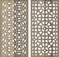 Circular Baffle Pattern For Laser Cut Cnc Free CDR Vectors Art