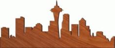 City Center For Laser Cut Plasma Free CDR Vectors Art