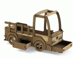 Crib Shaped Truck For Laser Cut Cnc Free CDR Vectors Art