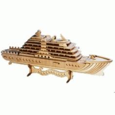 Cruiseschip Passagierschip Houten Bouwpakket For Laser Cut Cnc Free CDR Vectors Art