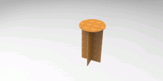 10 Mm Mdf Chair Stool Free DXF File