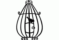 Bird Cage 3 Free DXF File
