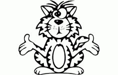 Cat Cross Eyed Free DXF File