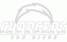 Chargers Logo Free DXF File