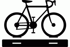 Cycle With Table Stand Free DXF File