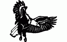 Eagle Flying Free DXF File
