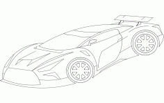 Racer Car Free DXF File