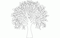 Tree Of Life Full Carve Free DXF File