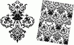 Baroque Floral Pattern Free DXF File