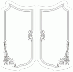 Flower Grille Design Free DXF File