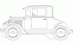 Ford Old Vintage Car Free DXF File