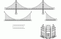 Golden Gate 3d Model Free DXF File