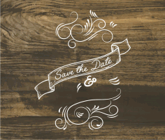 Save The Date Art Free DXF File