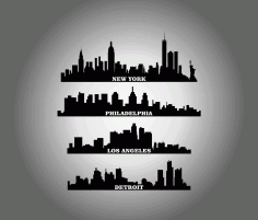 States City Buildings Free DXF File