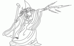 Wizard Silhouette Free DXF File