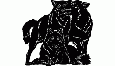 Wolves Free DXF File